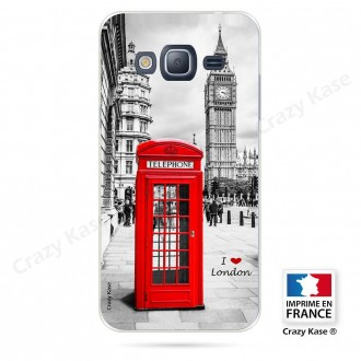 Coque Galaxy J3 (2016) souple motif Londres -  Crazy Kase