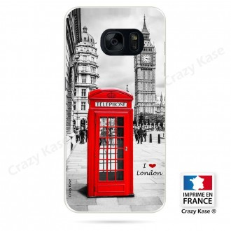 Coque Galaxy S7 Edge souple motif Londres - Crazy Kase