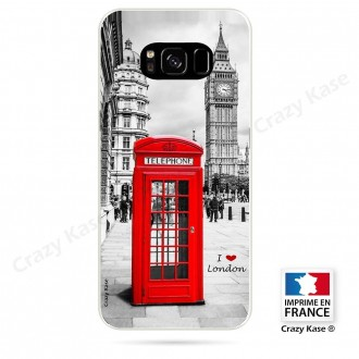 Coque Galaxy S8 souple motif Londres -  Crazy Kase