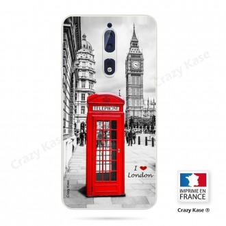 Coque Nokia 8 souple motif Londres -  Crazy Kase
