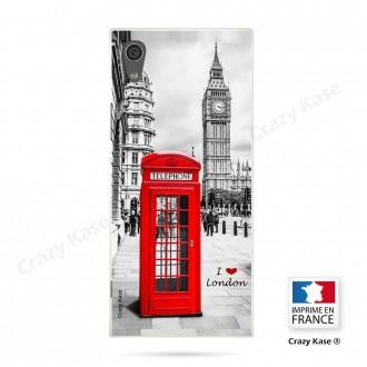 Coque Xperia XA1 souple motif Londres - Crazy Kase