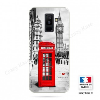 Coque Galaxy A6 Plus 2018 souple motif Londres -  Crazy Kase