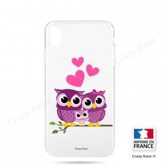 Coque iPhone Xr souple motif Famille Chouette - Crazy Kase