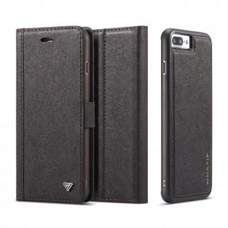 Etui iPhone 8 / 7 Porte-cartes noir - Whatif