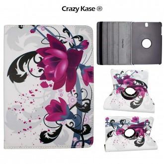 Etui Galaxy Tab S3 9.7 Rotatif 360° motif Fleur de Lotus - Crazy Kase