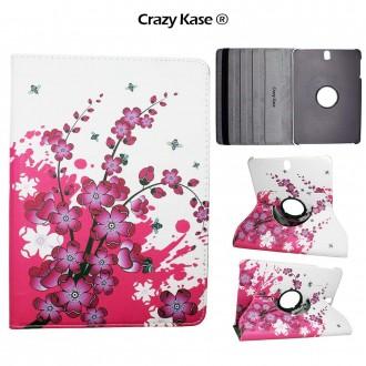 Etui Galaxy Tab S3 9.7 Rotatif 360° motif Fleurs Japonaises - Crazy Kase