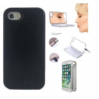 Coque iPhone X noir avec miroir et Led - Crazy Kase