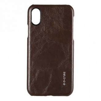 Coque iPhone X Rigide et Marron - G-Case