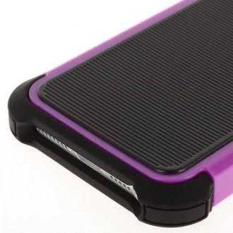 Coque plastique noire et violette ultra résistante pour iPhone 5