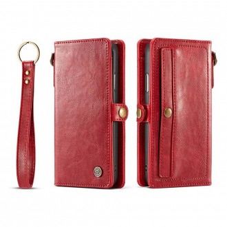 Etui iPhone X Rouge Porte-cartes - CaseMe