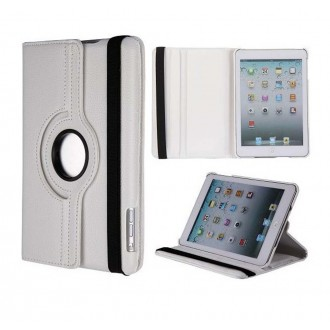 Etui iPad Mini 1 / 2 / 3 Rotatif 360° Blanc uni - Crazy Kase
