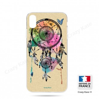 Coque iPhone Xs souple motif Attrape rêve et papillon - Crazy Kase