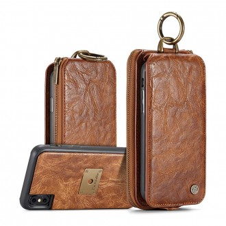 Etui iPhone X Porte-cartes multifonctions Marron - CaseMe