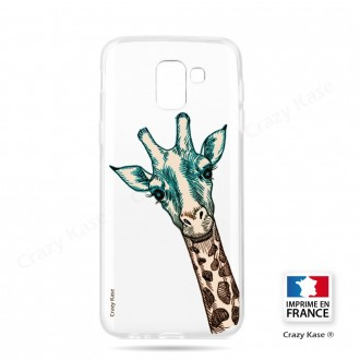 Coque Galaxy J6 (2018) souple motif Tête de Girafe - Crazy Kase