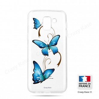 Coque Galaxy J6 (2018)  souple motif Papillon sur Arabesque - Crazy Kase