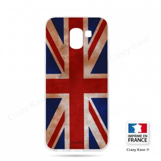 Coque Galaxy J6 (2018)  souple motif Drapeau UK vintage - Crazy Kase