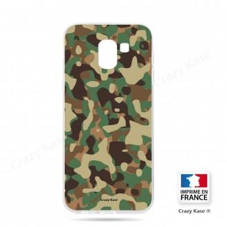 Coque Galaxy J6 (2018) souple motif Camouflage militaire - Crazy Kase