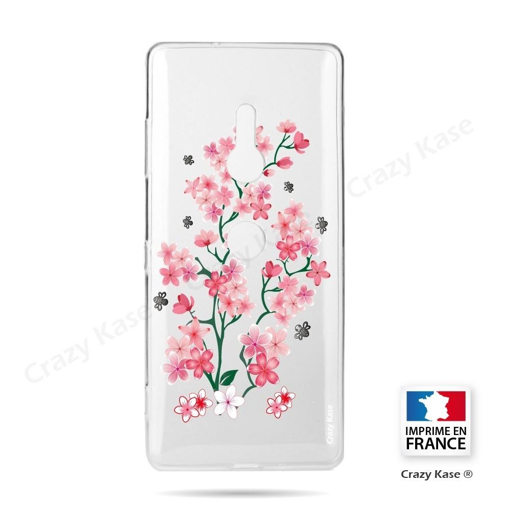 Coque Sony Xperia XZ3 souple motif Fleurs de Sakura - Crazy Kase