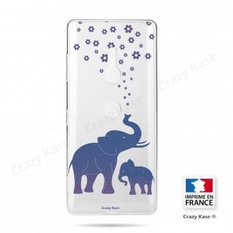Coque Sony Xperia XZ3 souple motif Eléphant Bleu - Crazy Kase