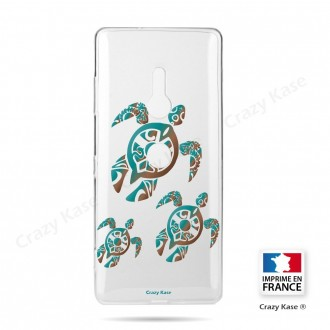 Coque Sony Xperia XZ3 souple motif Famille Tortue - Crazy Kase