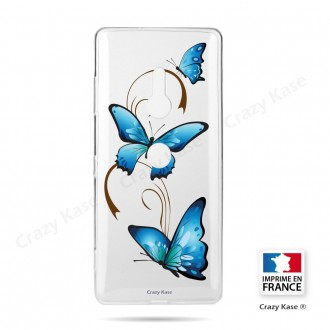 Coque Sony Xperia XZ3 souple motif Papillon sur Arabesque - Crazy Kase
