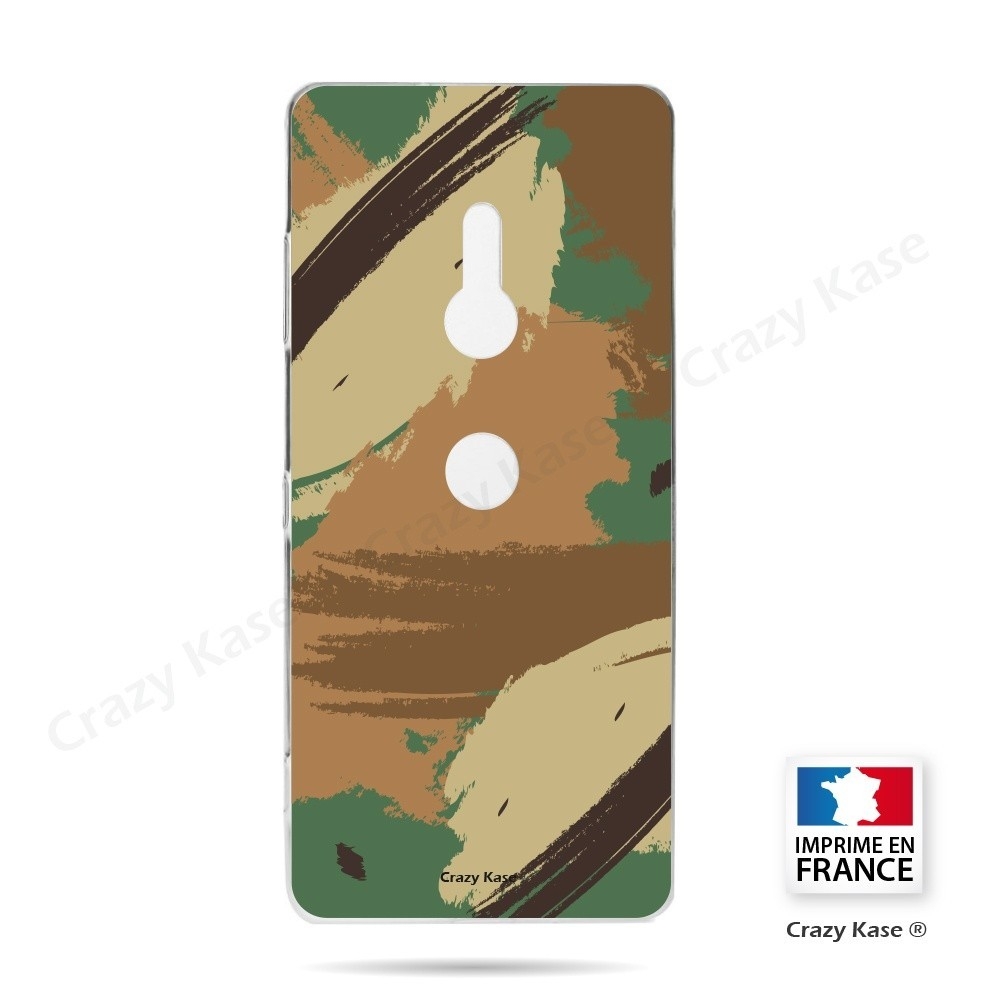 Coque Sony Xperia XZ3 souple motif Camouflage - Crazy Kase