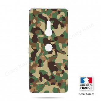 Coque Sony Xperia XZ3 souple motif Camouflage militaire - Crazy Kase