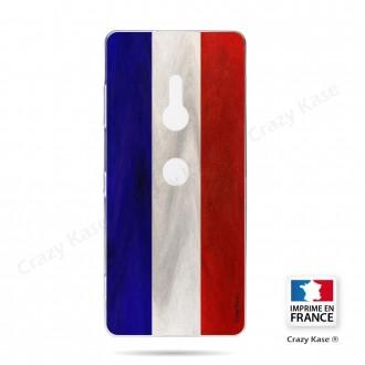 Coque Sony Xperia XZ3 souple Drapeau Français Vintage- Crazy Kase
