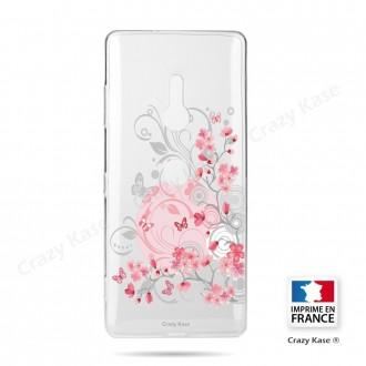 Coque Sony Xperia XZ3 souple Fleurs et papillons - Crazy Kase