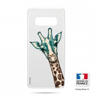 Coque Galaxy S10 souple motif Tête de Girafe - Crazy Kase