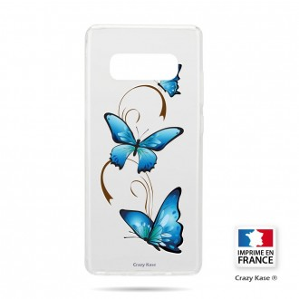 Coque Galaxy S10 souple motif Papillon sur Arabesque - Crazy Kase