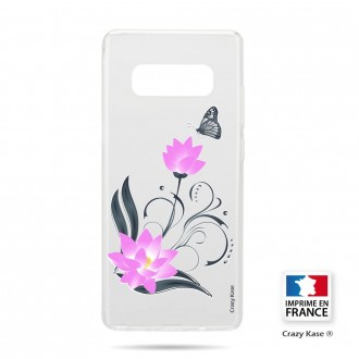 Coque Galaxy S10 souple motif Fleur de lotus et papillon- Crazy Kase