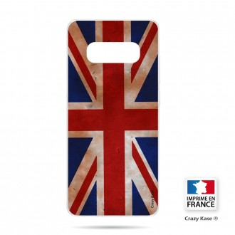 Coque Galaxy S10 souple motif Drapeau UK vintage - Crazy Kase