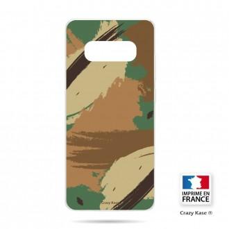 Coque Galaxy S10 souple motif Camouflage - Crazy Kase