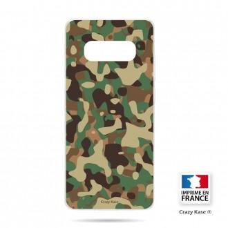 Coque Galaxy S10 souple motif Camouflage militaire - Crazy Kase