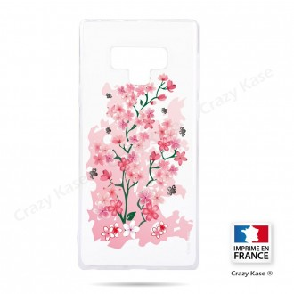 Coque Galaxy Note 9 souple motif Fleurs de Cerisier - Crazy Kase