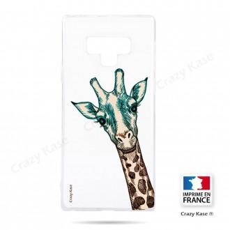Coque Galaxy Note 9 souple motif Tête de Girafe - Crazy Kase