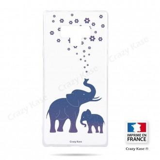 Coque Galaxy Note 9 souple motif Eléphant Bleu - Crazy Kase