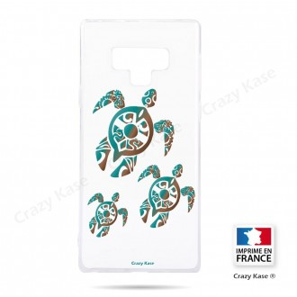 Coque Galaxy Note 9 souple motif Famille Tortue - Crazy Kase