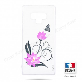 Coque Galaxy Note 9 souple motif Fleur de lotus et papillon- Crazy Kase
