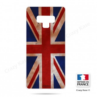 Coque Galaxy Note 9 souple motif Drapeau UK vintage - Crazy Kase