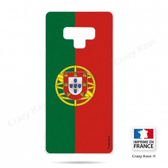 Coque Galaxy Note 9 souple motif Drapeau Portugais - Crazy Kase