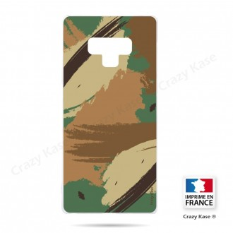 Coque Galaxy Note 9 souple motif Camouflage - Crazy Kase