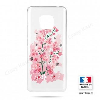 Coque Huawei Mate 20 Pro souple motif Fleurs de Cerisier - Crazy Kase