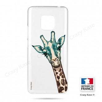 Coque Huawei Mate 20 Pro souple motif Tête de Girafe - Crazy Kase