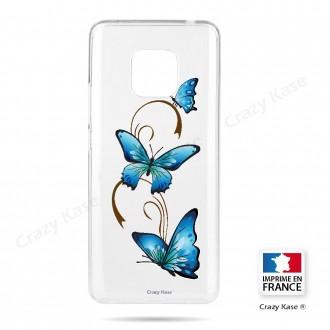 Coque Huawei Mate 20 Pro souple motif Papillon sur Arabesque - Crazy Kase