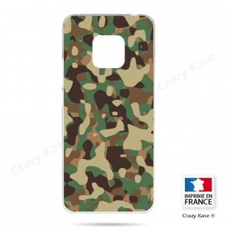 Coque Huawei Mate 20 Pro souple motif Camouflage militaire - Crazy Kase