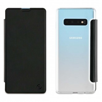 Etui Galaxy S10 Plus Folio Noir - Muvit