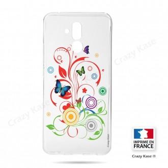 Coque Huawei Mate 20 Lite souple motif Papillons et Cercles - Crazy Kase