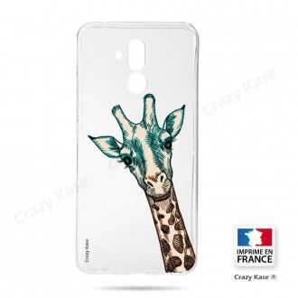 Coque Huawei Mate 20 Lite souple motif Tête de Girafe - Crazy Kase